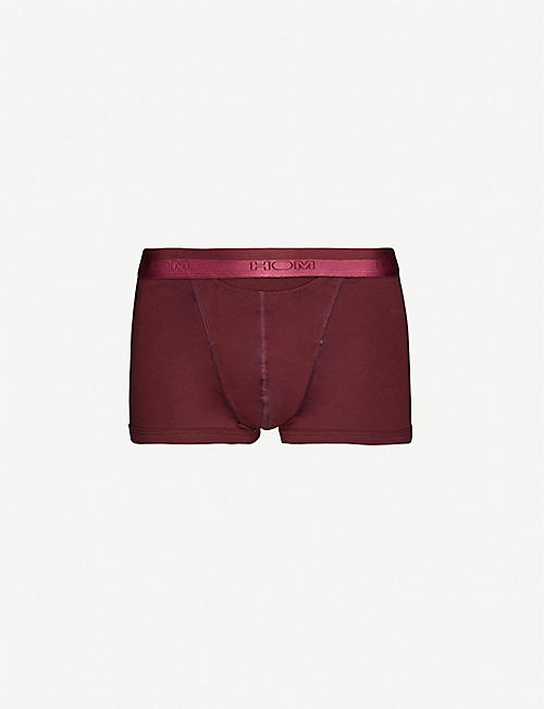 HOM H01 Maxi slim-fit stretch-cotton trunks
