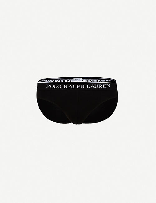 POLO RALPH LAUREN: Pack of three logo slim-fit stretch-cotton briefs