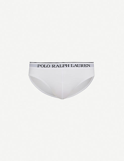 POLO RALPH LAUREN: Pack of three slim-fit stretch-cotton briefs