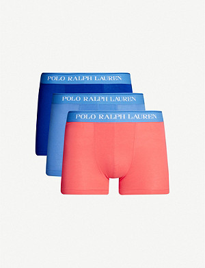 POLO RALPH LAUREN Pack of three slim-fit stretch-cotton trunks