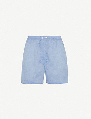 DEREK ROSE Amalfi Batiste relaxed-fit cotton woven boxer shorts