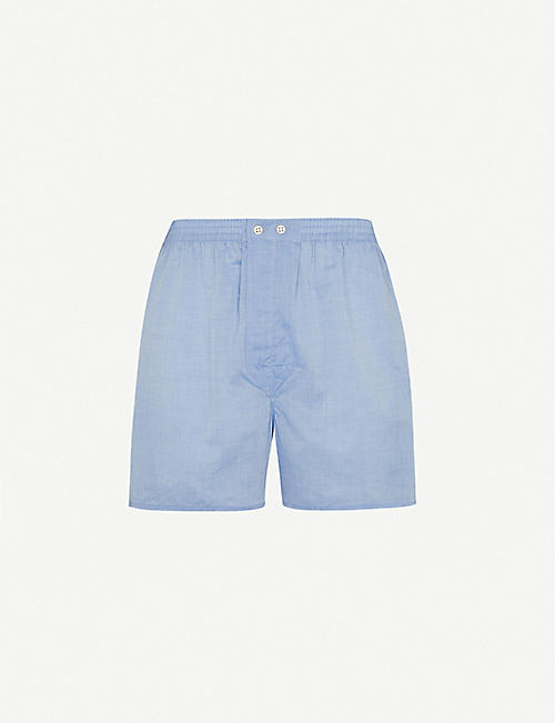 DEREK ROSE: Amalfi Batiste relaxed-fit cotton woven boxer shorts