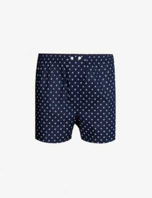 DEREK ROSE Classic Fit polka-dot-pattern cotton boxer shorts