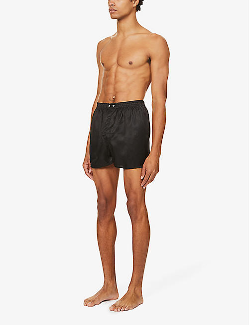 DEREK ROSE Woburn regular-fit silk boxers