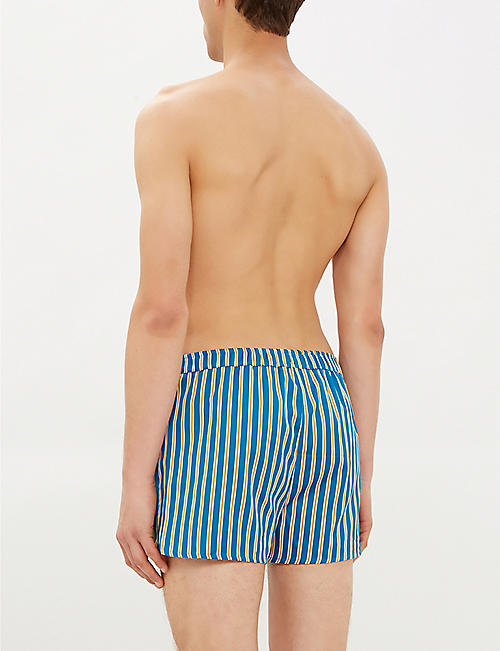 DEREK ROSE Elite striped classic-fit cotton boxers