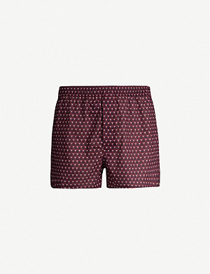 DEREK ROSE Classic Fit mosaic-patterned cotton boxers