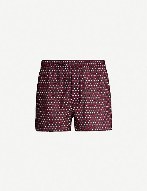 DEREK ROSE: Classic Fit mosaic-patterned cotton boxers