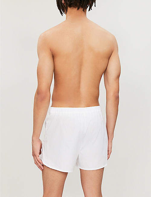 DEREK ROSE Savoy regular-fit cotton boxer shorts