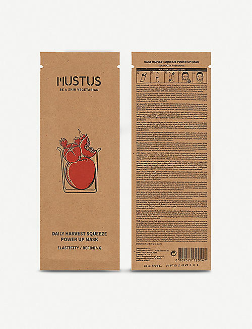 MUSTUS Daily Harvest squeeze power up sheet mask