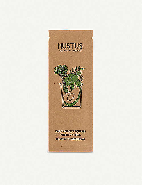 MUSTUS Daily Harvest squeeze fresh up sheet mask