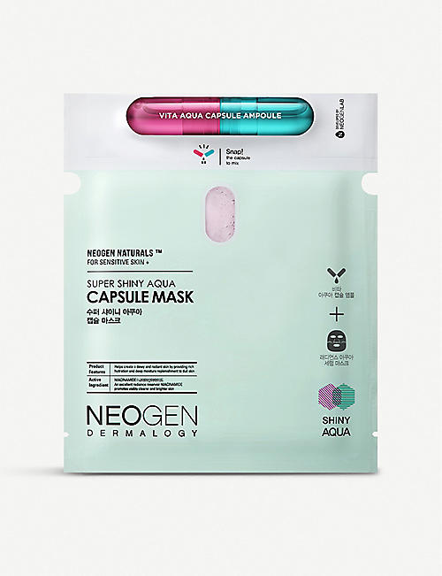 NEOGEN Super Shiny aqua capsule face mask