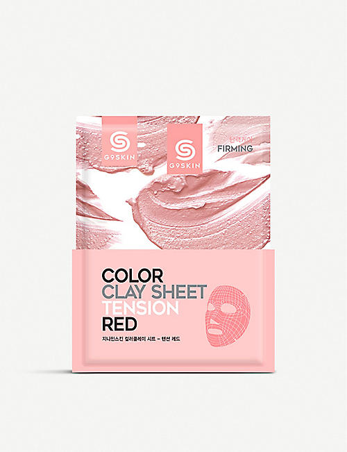 G9 Colour Clay tension red face mask 20g