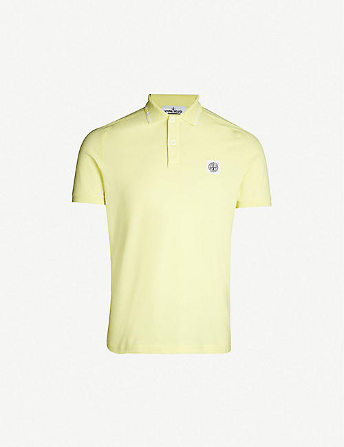 073f0eadea1 STONE ISLAND Badge chest stretch-cotton polo shirt