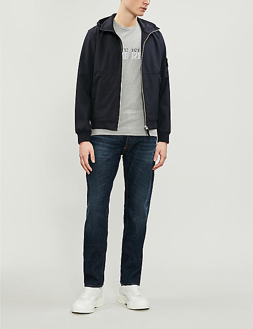 73e9afd04f38 STONE ISLAND Reflective logo-print cotton-jersey T-shirt