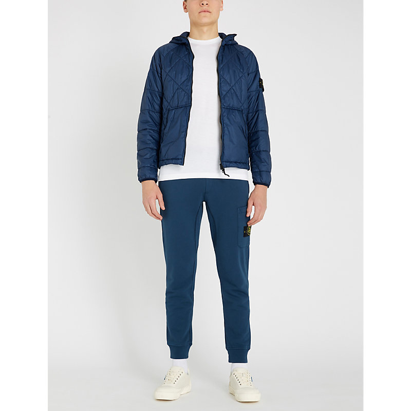 STONE ISLAND | Garment-Dyed Hooded Shell Quilted Jacket | Goxip