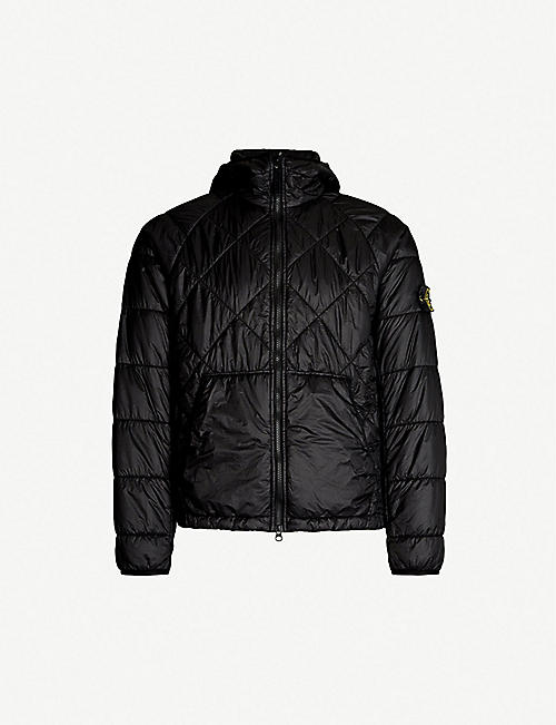 d17f50f54bec STONE ISLAND Garment-dyed hooded shell quilted jacket