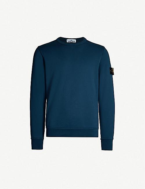 6c82296755 STONE ISLAND Badge sleeve cotton-jersey sweatshirt