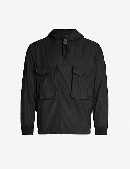3731de92d8044 STONE ISLAND Patch-pocket cotton-blend hooded jacket