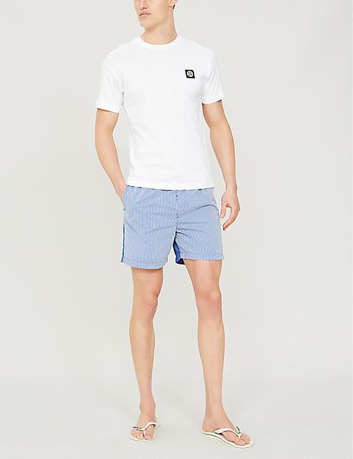 126df025fb STONE ISLAND Striped regular-fit swim shorts