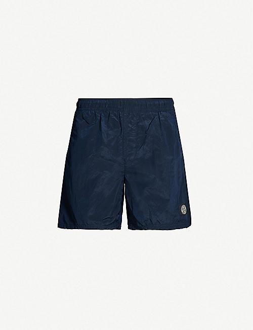STONE ISLAND Drawstring-waist shell swim shorts 5ca29ecaaf23