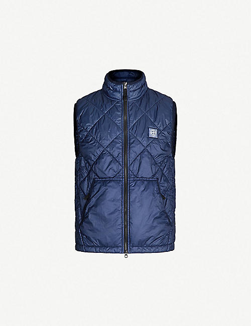 STONE ISLAND Quilted shell gilet b4504be01
