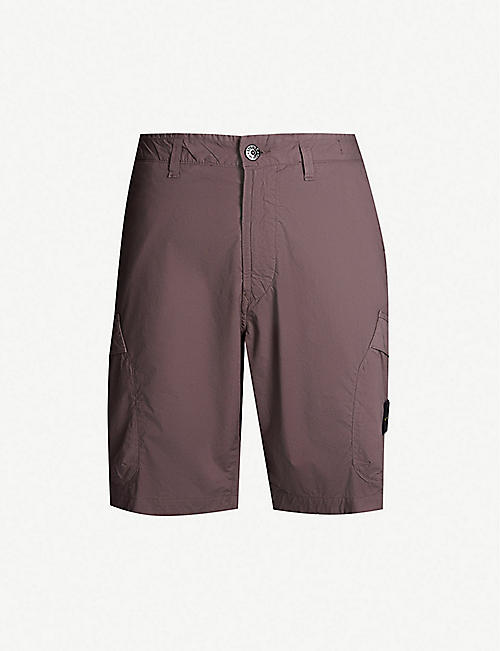 sports shoes 4fa92 09f2c STONE ISLAND Patch-pocket stretch-cotton twill cargo shorts