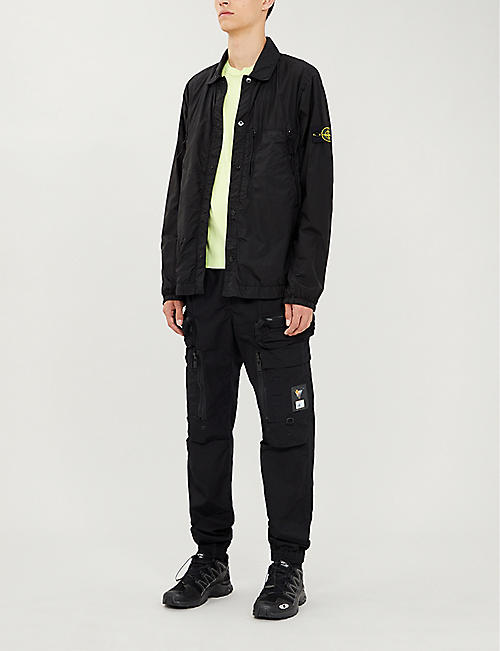 STONE ISLAND Logo-patch shell-blend overshirt