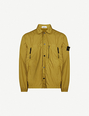 STONE ISLAND Logo-patch shell overshirt
