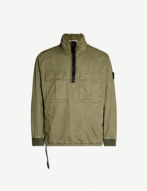 STONE ISLAND Cargo-pocket cotton jacket