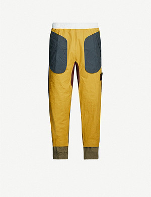STONE ISLAND Patchwork cotton-canvas jogging bottoms