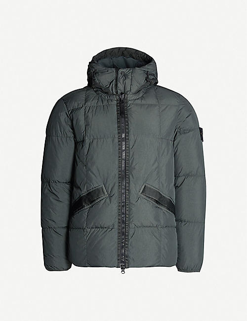 59c20fb58064d STONE ISLAND Zipped quilted-shell puffer jacket