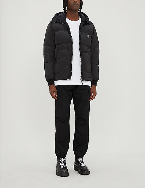 STONE ISLAND Zipped quilted-shell puffer jacket
