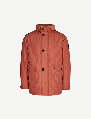 STONE ISLAND Logo-patch shell jacket