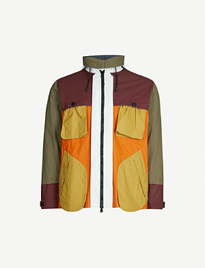 STONE ISLAND Layered cotton-blend jacket