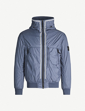 STONE ISLAND Zipped padded shell jacket