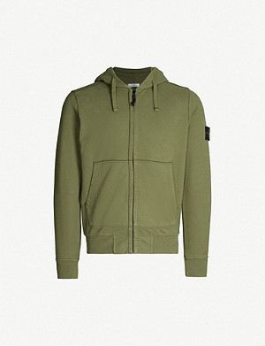 STONE ISLAND Logo-patch cotton-jersey hoody