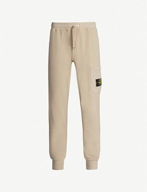 STONE ISLAND Badge logo cotton-jersey jogging bottoms