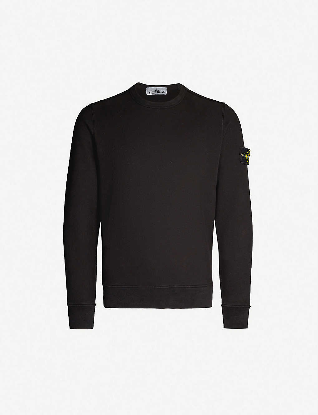 a11cb2d375169 STONE ISLAND - Crewneck cotton-jersey sweatshirt | Selfridges.com