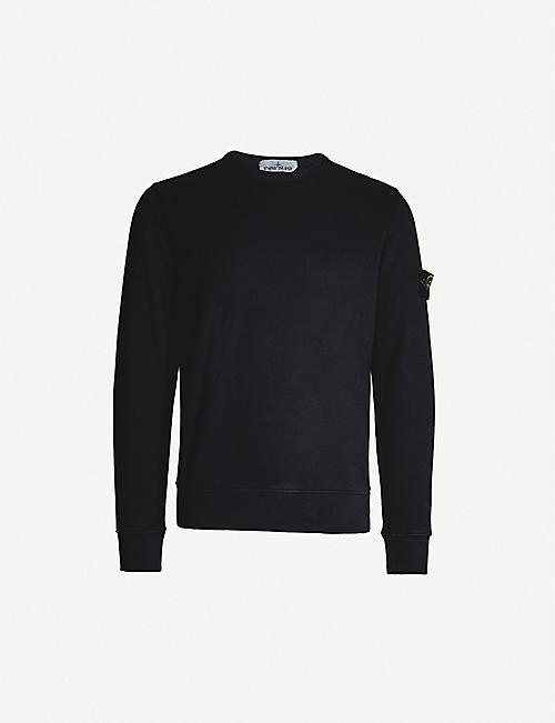 9704325a STONE ISLAND Crewneck cotton-jersey sweatshirt