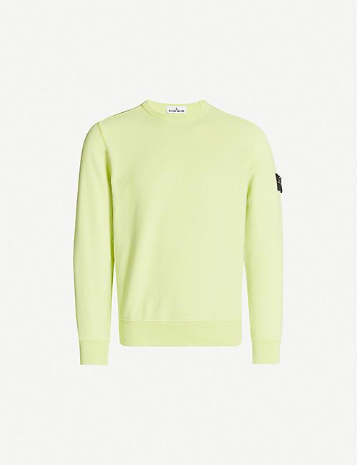 066bf758f STONE ISLAND Crewneck cotton-jersey sweatshirt