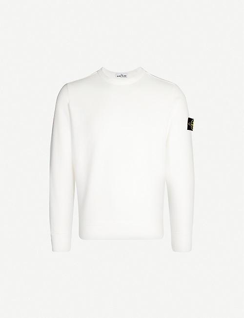 9681998a00cd STONE ISLAND Crewneck cotton-jersey sweatshirt