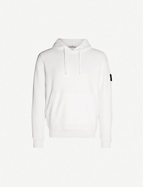 7f6e9e8ed49e STONE ISLAND Logo-patch cotton-jersey hoody