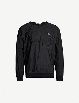 STONE ISLAND Logo patch shell sweatshirt