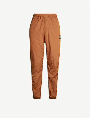 STONE ISLAND Brand-patch shell jogging trousers