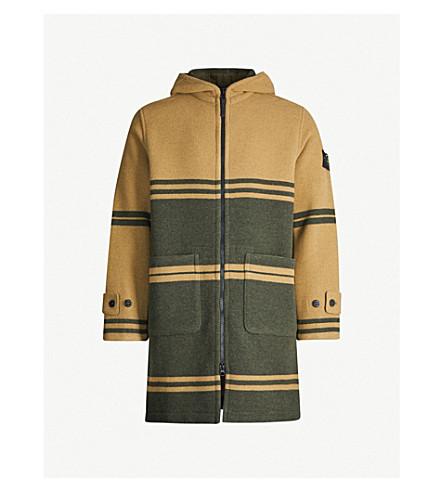 Stone Island Coats JACQUARD STRIPED WOOL-BLEND COAT