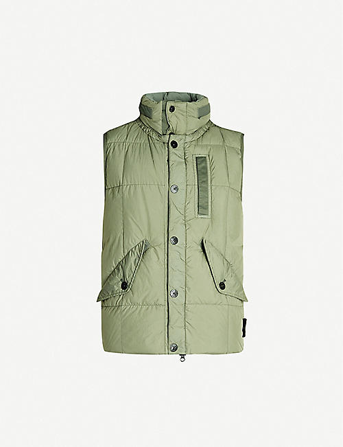 0fed98238e STONE ISLAND Sleeveless logo-patch quilted shell gilet