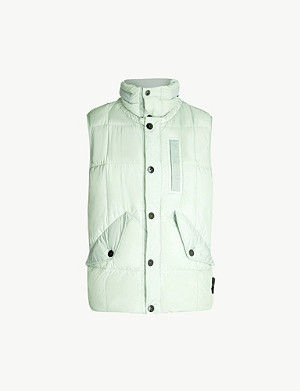 STONE ISLAND Brand-patch sleeveless shell gilet