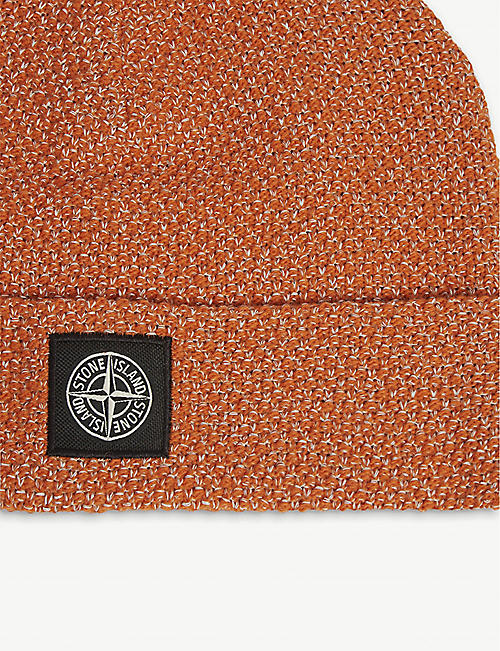 STONE ISLAND Reflective knitted wool-blend beanie
