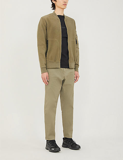 STONE ISLAND SHADOW PROJECT Two-tone cotton-jersey jacket