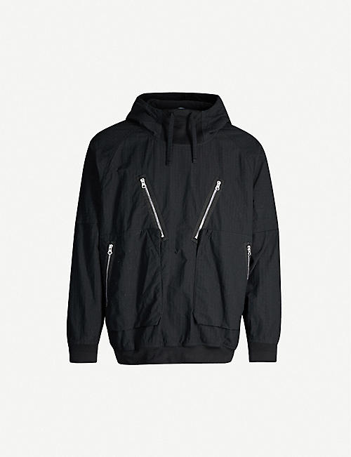STONE ISLAND SHADOW PROJECT Drawstring-hood grid-pattern drill jacket